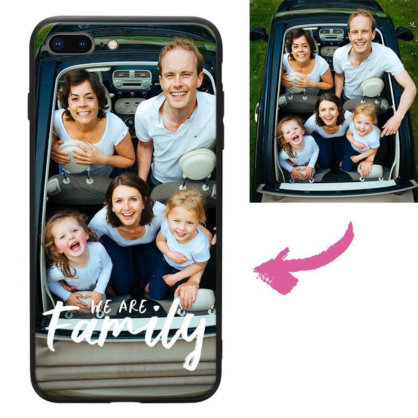 iphone7p 8p custom we are family photo protective phone case