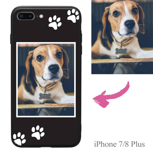 iphone7p 8p custom dog photo protective phone case