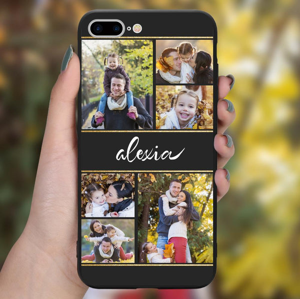 custom photo collage iphone case with name