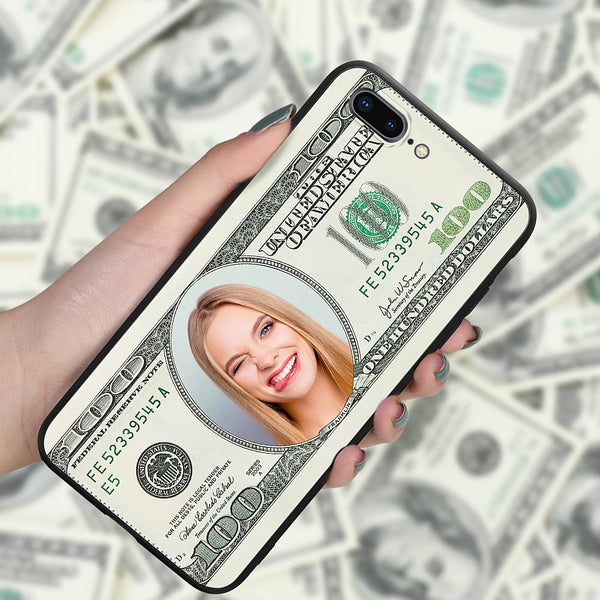 iphone7p 8p custom hundred dollar phone case