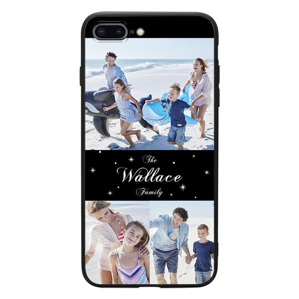 custom 3 photo collage iphone case family