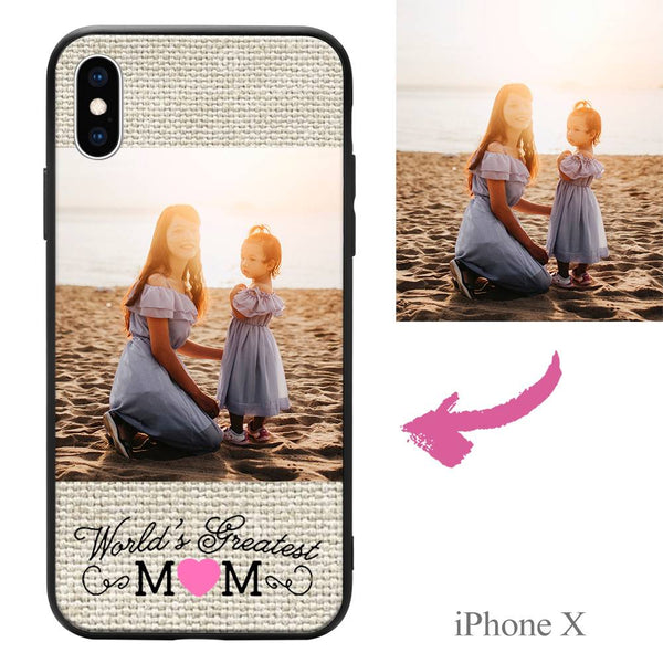 "iPhoneX Custom ""Mom"" Photo Protective Phone Case"