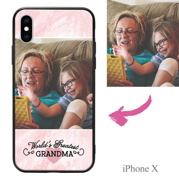 "iPhoneX Custom ""Grandma"" Photo Protective Phone Case"