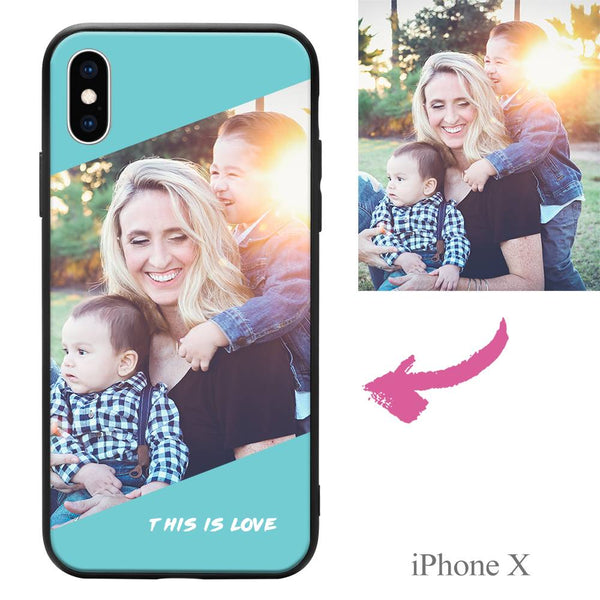 "iPhoneX Custom ""This Is Love"" Photo Protective Phone Case"