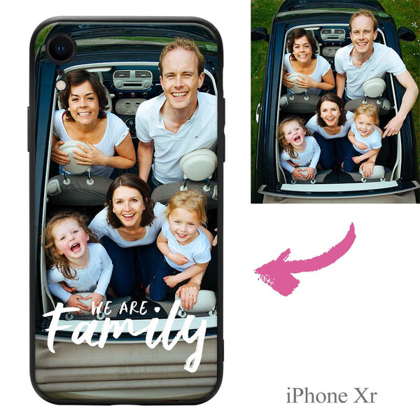 "iPhoneXr Custom ""We Are Family"" Photo Protective Phone Case"
