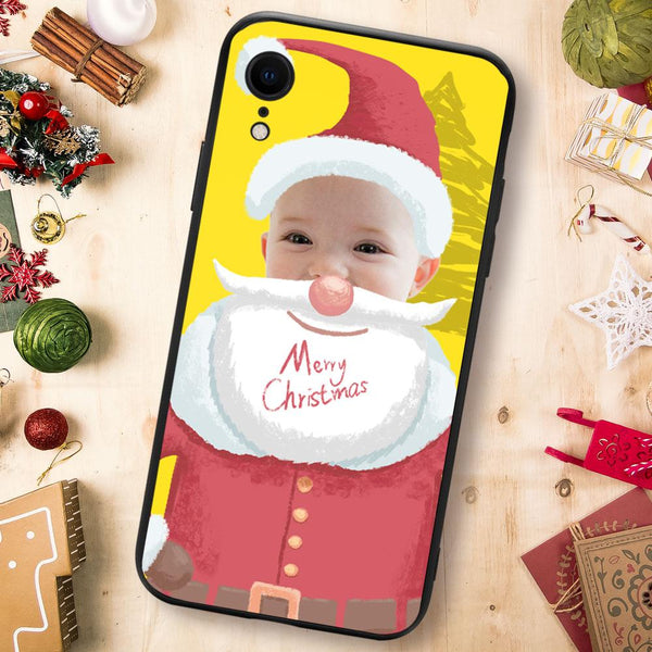 Christmas sale - Custom Santa Claus iPhone Case - Yellow