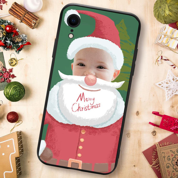 Christmas sale - Custom Santa Claus iPhone Case - Green