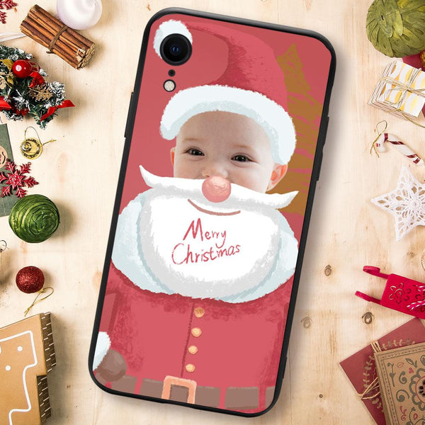 Christmas sale - Custom Santa Claus iPhone Case - Red