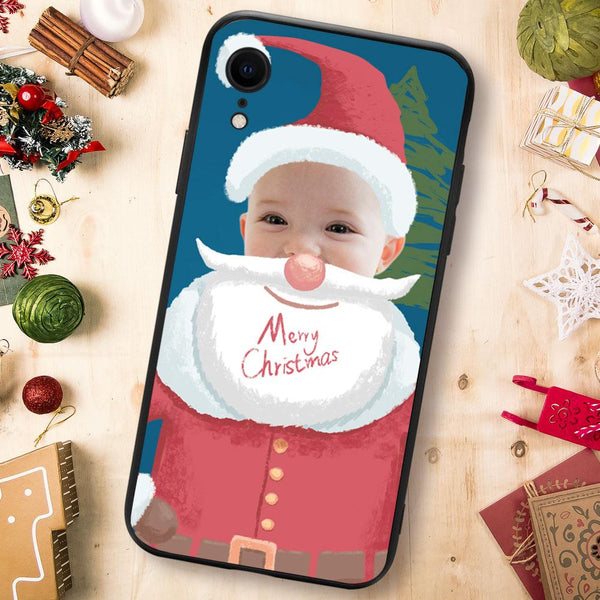 Christmas sale - Custom Santa Claus iPhone Case - Blue