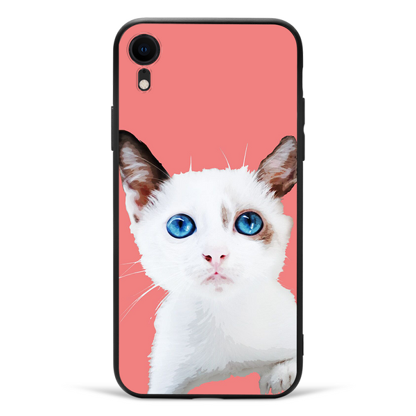 custom pet portrait photo iphone case