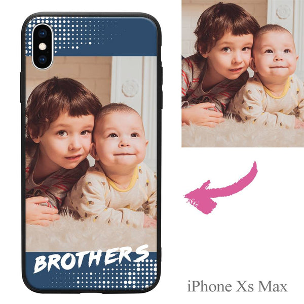 "iPhoneXs Max Custom ""Brothers"" Family Photo Protective Phone Case"