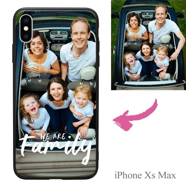 "iPhoneXs Max Custom ""We Are Family"" Photo Protective Phone Case"