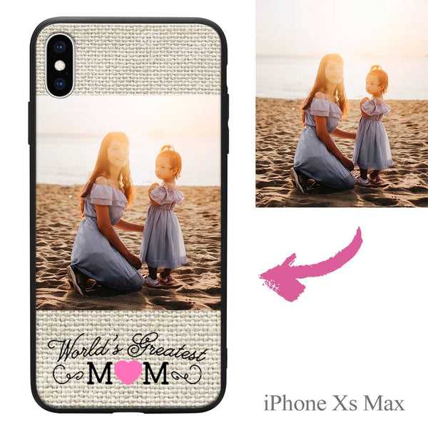 "iPhoneXs Max Custom ""Mom"" Photo Protective Phone Case"