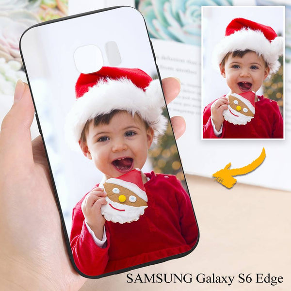 Samsung Galaxy S6 Edge Custom Christmas Photo Protective Phone Case