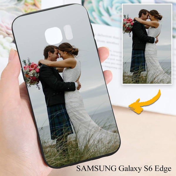 Samsung Galaxy S6 Edge Custom Wedding Photo Protective Phone Case