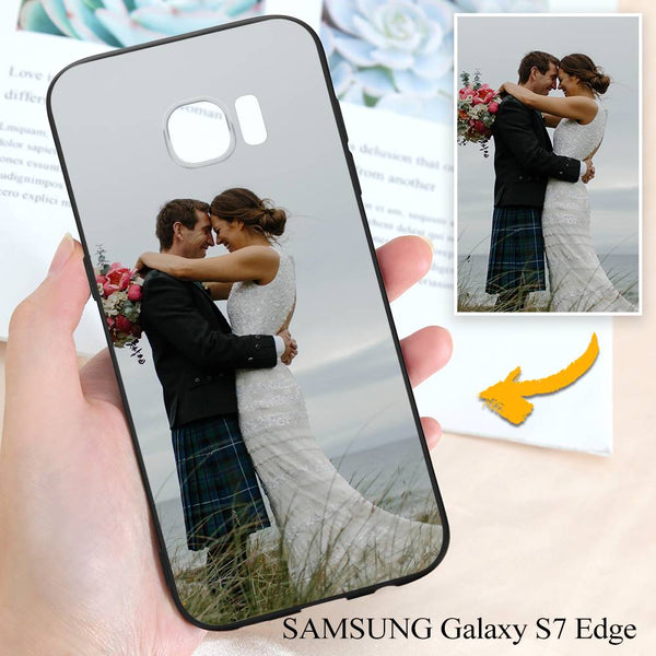 Samsung Galaxy S7 Edge Custom Wedding Photo Protective Phone Case