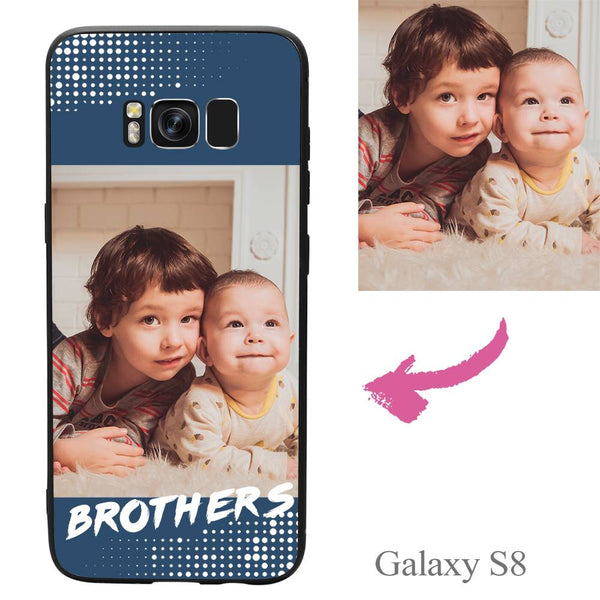 Galaxy S8 Custom Brothers Family Photo Protective Phone Case