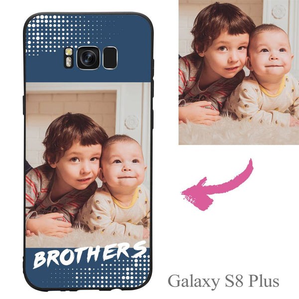 Galaxy S8 Plus Custom Brothers Family Photo Protective Phone Case