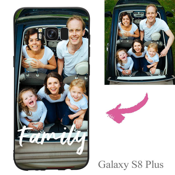 Galaxy S8 Plus Custom We Are Family Photo Protective Phone Case