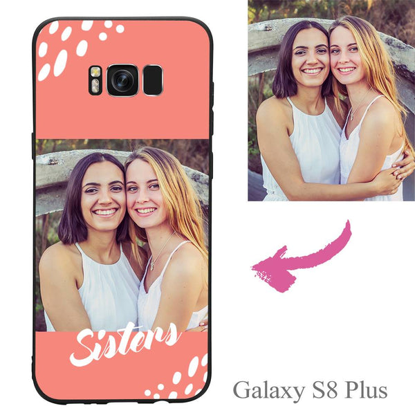 Galaxy S8 Plus Custom Sisters Photo Protective Phone Case