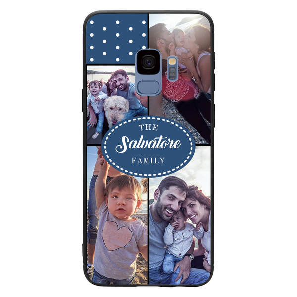 Custom 4-Photo Collage Samsung Case with Family Name