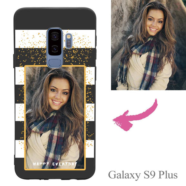Galaxy S9 Plus Custom Happy Everyday Photo Protective Phone Case