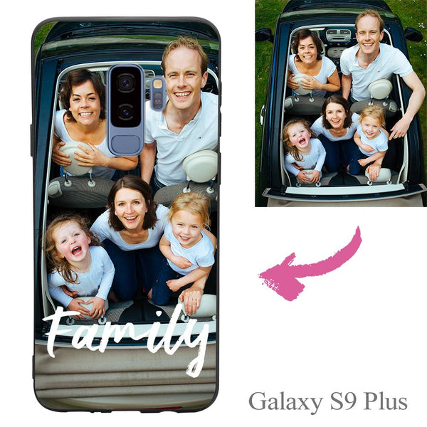 Galaxy S9 Plus Custom We Are Family Photo Protective Phone Case