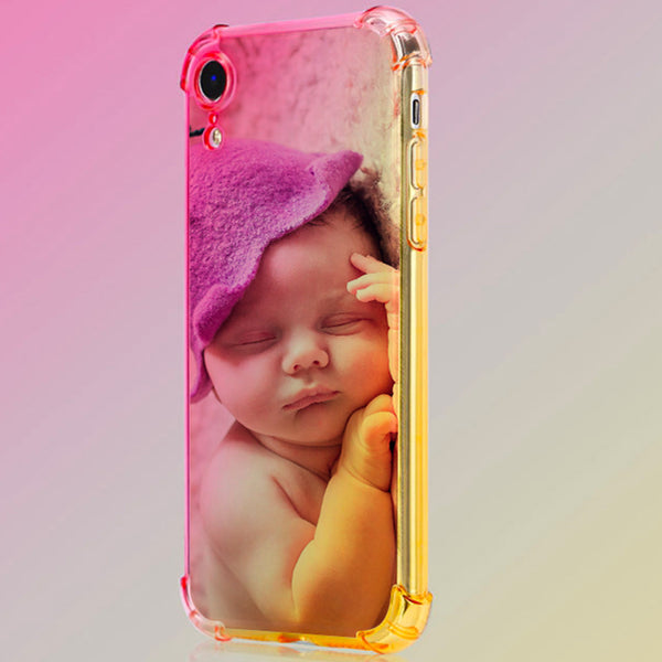 Custom Baby Rainbow Gradient Phone Case(Quadrang Leairbag Anti-fall)