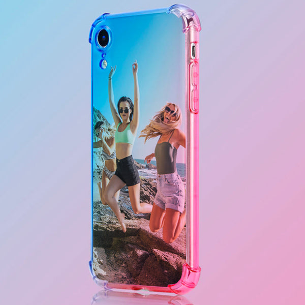 Buy 2 Get 1 Free - Custom Fashion Girl Rainbow Gradient Phone Case(Quadrang Leairbag Anti-fall)