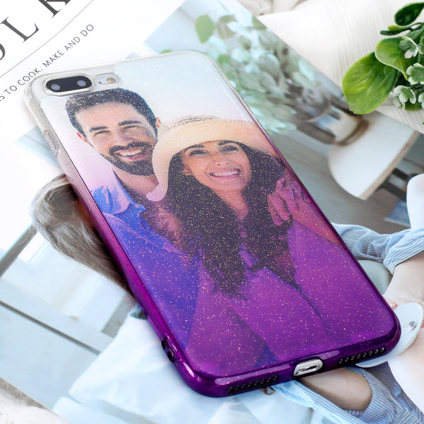 Buy 2 Get 1 Free - Custom Bling Purple Gradient Ramp iPhone Case