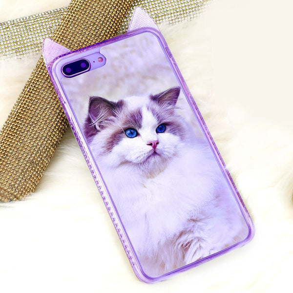 Custom Cat Ear iPhone Case