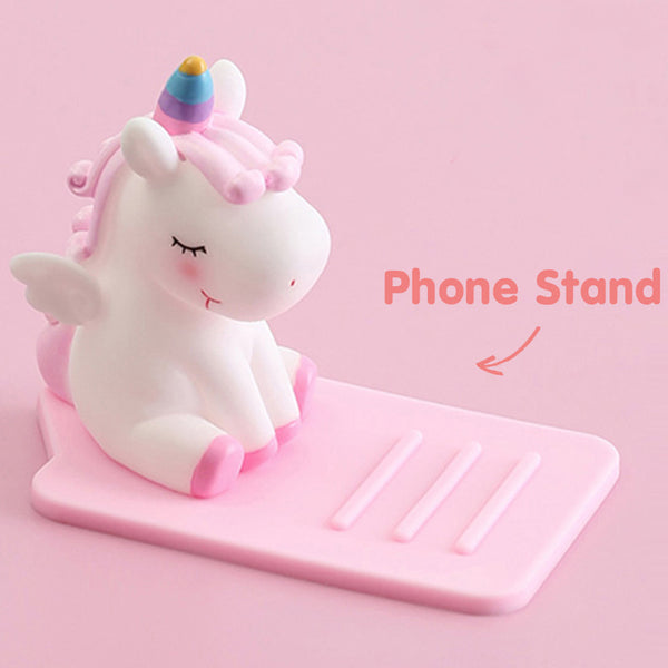 Cute Cartoon Unicorn Phone Stand
