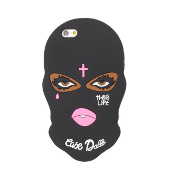 Hot for black mask silicone cover iphone case