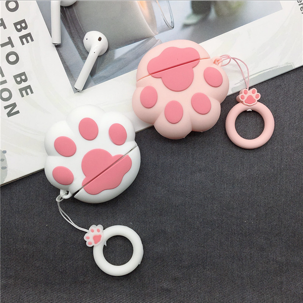 Lovely Cat's Paw Air Pods Case