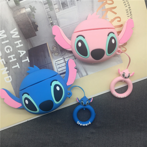 Big Head Stitch Air Pods Case