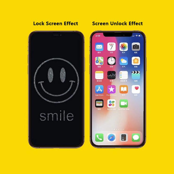 Smile Stealth Cartoon Pattern Tempered Glass Film
