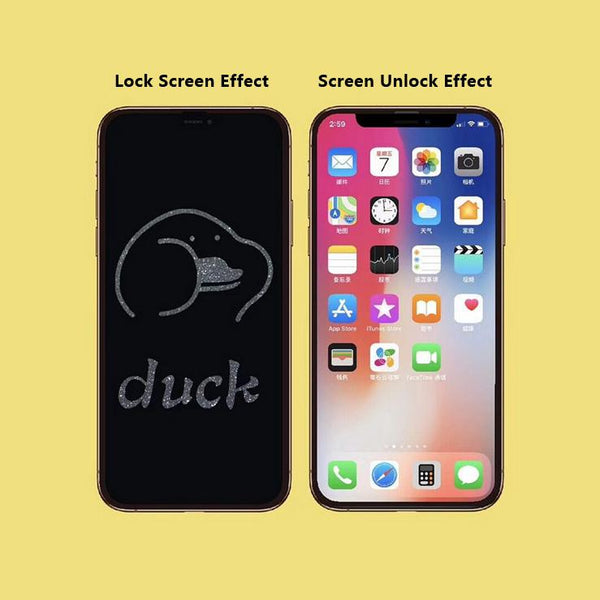 Duck Stealth Cartoon Pattern Tempered Glass Film