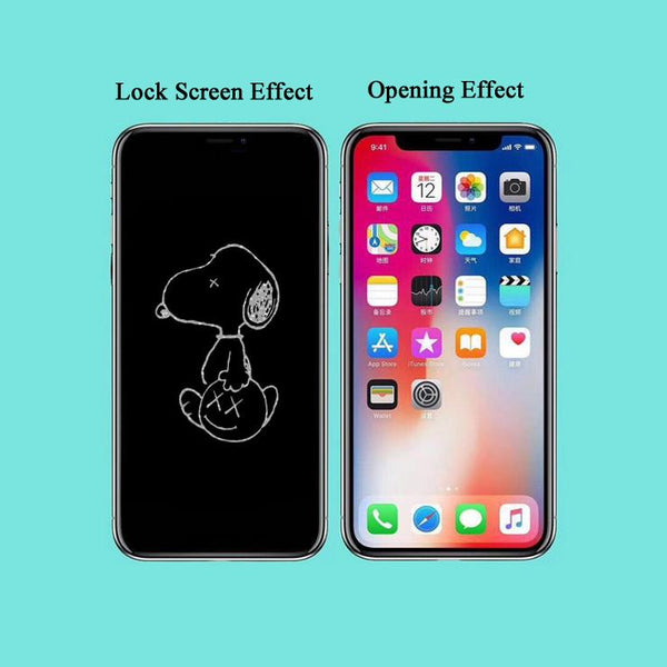Snoopy Stealth Cartoon Pattern Tempered Glass Film