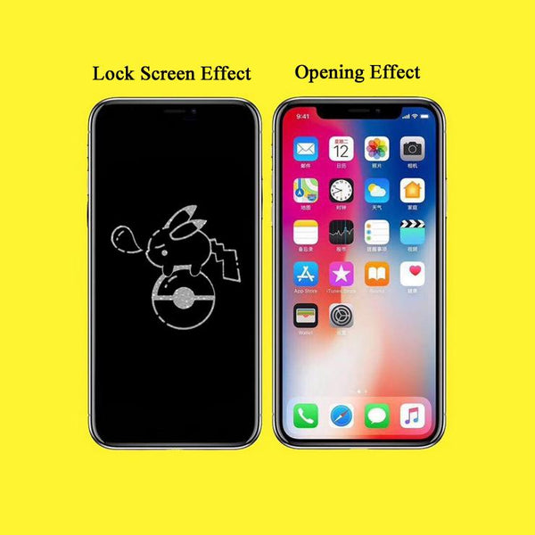 Pikachu Stealth Cartoon Pattern Tempered Glass Film