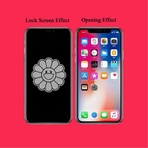 Flower Stealth Cartoon Pattern Tempered Glass Film
