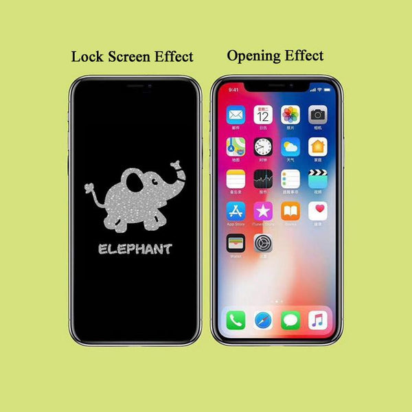 Elephant Stealth Cartoon Pattern Tempered Glass Film