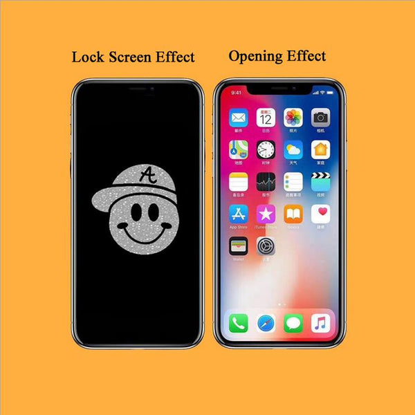 Smiling Face Stealth Cartoon Pattern Tempered Glass Film