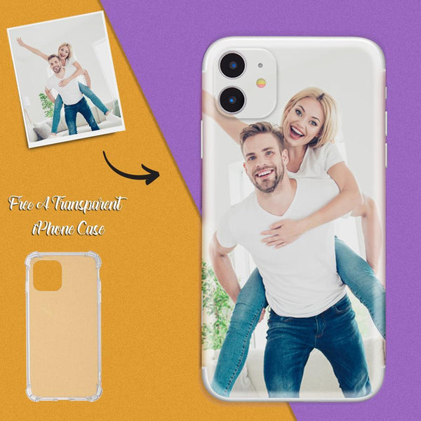 Custom iPhone Case Sticker - Personalized Photo Phone Cases Sticker Free A Transparent iPhone Case