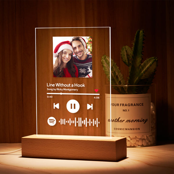 Mother's Day Gifts Personalized Spotify Code Music Plaque Night Light(5.9in x 7.7in)