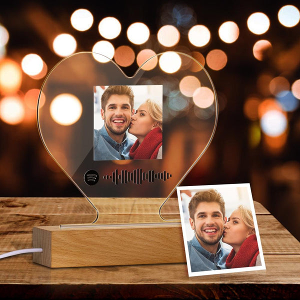 Custom Photo Night Light Spotify Code Music Heart Light