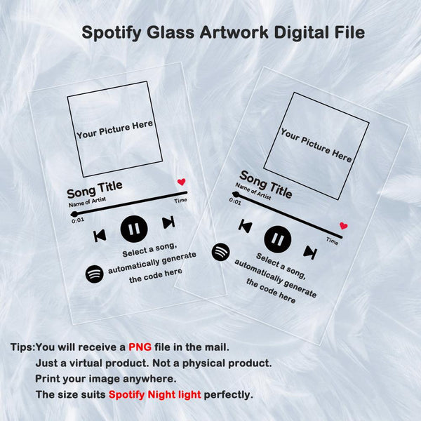 Spotify Glass Artwork Digital File PNG