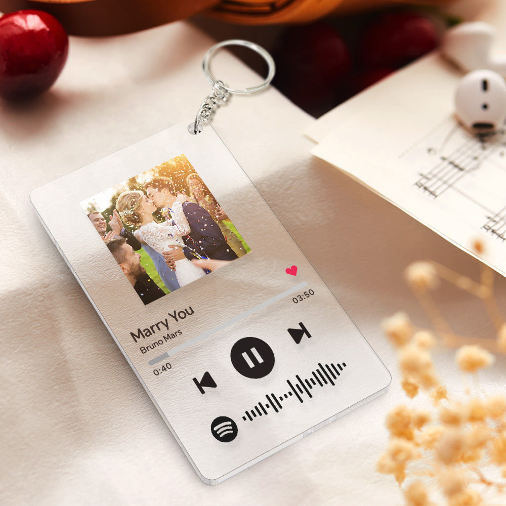 Music Spotify Plaque Personalized Music Keychain Plaque Your Choice Of Any Song  Album Spotify Keychain Plaque Custom Music Plaque