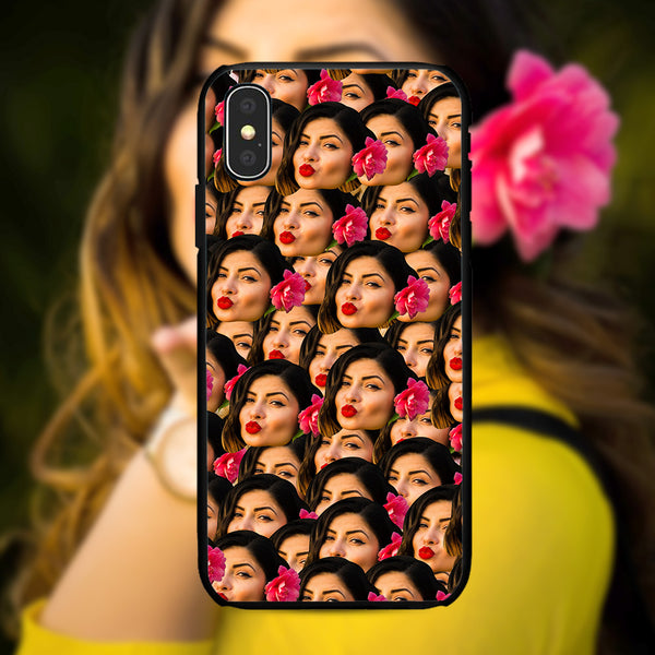 custom humorous face mash iphone case