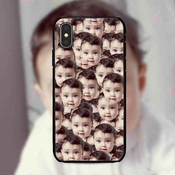 custom kid face mash iphone case