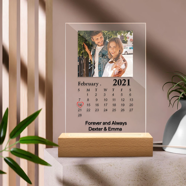 Custom Calendar Night Light Plaque (5.9in x 7.7in)